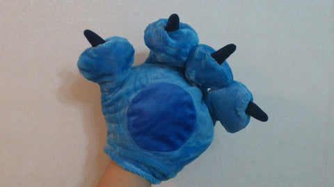 Lilo and Stitch Cosplay Furry Soft Plush Costume Mitts Hands Gloves Paws