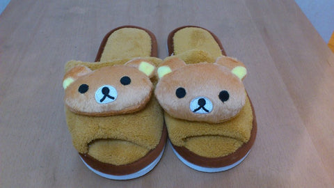 Rilakkuma Bear Cosplay Adult Plush Rave Shoes Slippers 10""