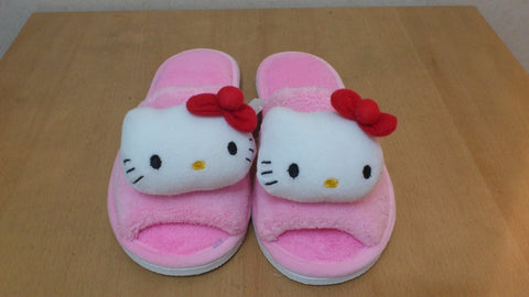 Hello Kitty Cosplay Adult Women Plush Rave Shoes Slippers 10""
