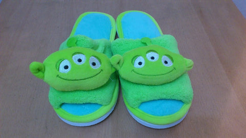 Toy Story Alien Cosplay Adult Women Plush Rave Shoes Slippers 10""