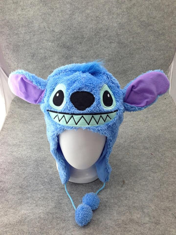 Lilo and Stitch Cute Kawaii Anime Hat Rave Beanie Cap Furry Plush Cosplay Hat T4