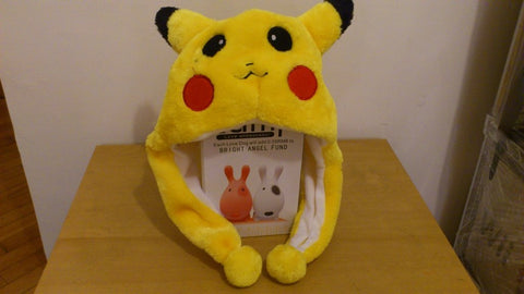 Pocket Monster Cute Kawaii Anime Animal Hat Rave Beanie Cap Furry Plush Cosplay Pikachu type 1