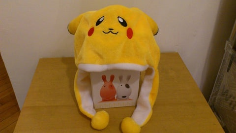 Pocket Monster Cute Kawaii Anime Animal Hat Rave Beanie Cap Furry Plush Cosplay Pikachu type 2