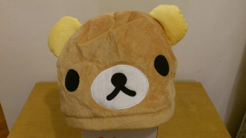 Rilakkuma Bear Cosplay Adult Plush Rave Figure Hat Cap Warm Cartoon 1