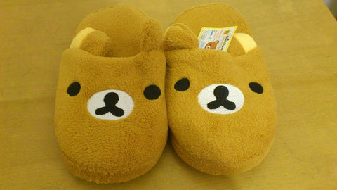 Rilakkuma Bear Kawaii Cuite Cosplay Adult Plush Rave Shoes Doll Slippers 11""