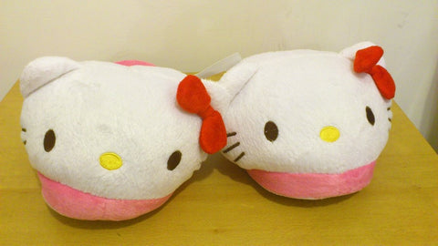 New Hello Kitty Cosplay Adult Plush Rave Shoes Slippers 11""