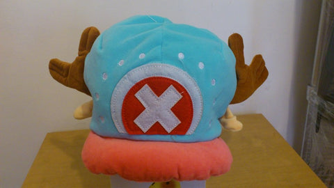 One Piece Chopper Blue Cosplay Adult Plush Rave Figure Hat Cap Warm Cartoon