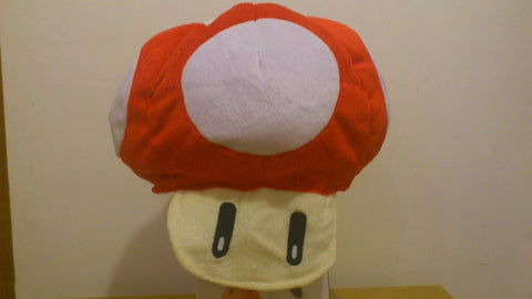 Super Mario Bros Mushroom Cosplay Adult Plush Rave Figure Hat Cap Warm Cartoon Red Mushroom