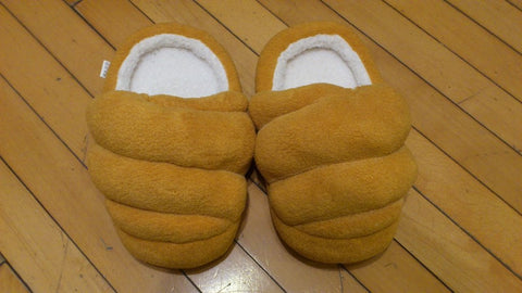 "Fresh Brown Bread Cosplay Adult Plush Rave Shoes Slippers 10"" T1"