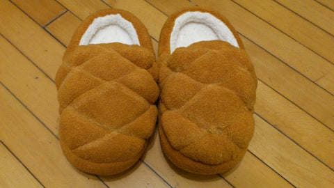 "Fresh Brown Bread Cosplay Adult Plush Rave Shoes Slippers 10"" T2"