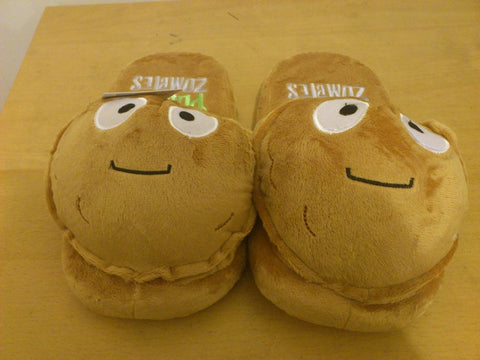 "Plants and Zombies Cosplay Adult Soft Plush Rave Shoes Slippers 11"" Wall-Nut"