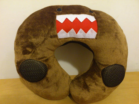 DOMO KUN Kawaii Anime Animal Beanie Neck Cushion Furry Plush with Speaker