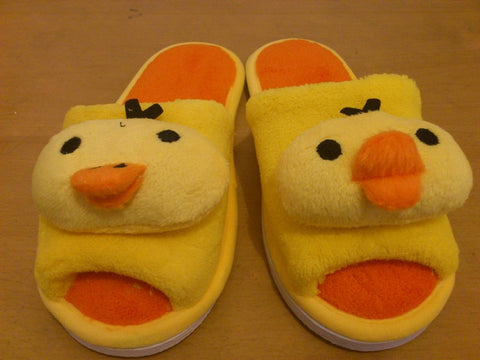 Rilakkuma Bear (Chicken) Cosplay Adult Plush Rave Shoes Slippers 10""