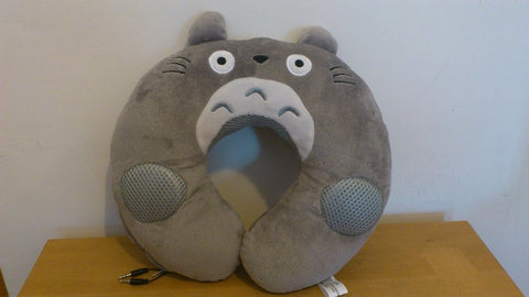 Totoro Kawaii Anime Animal Beanie Neck Cushion Furry Plush with Speaker