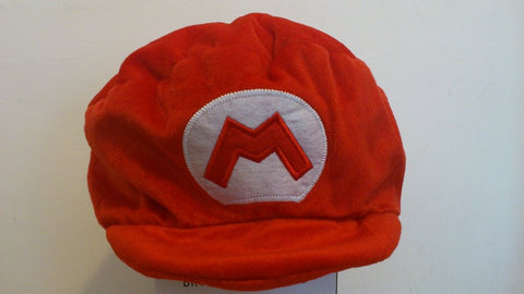 Super Mario Bros Cosplay Adult Plush Rave Figure Hat Cap Warm Cartoon Red Hat