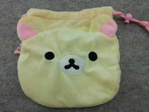 Cute White Rilakkuma Bears Coin Case Purse Bag/Wallet Bag/Make-up Bag