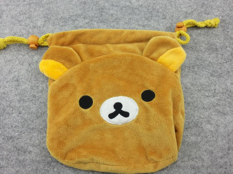 Cute Brown Rilakkuma Bears Coin Case Purse Bag/Wallet Bag/Make-up Bag