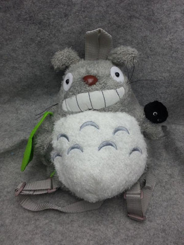 Neighbor Totoro Cute Kawaii Soft Furry Plush HandBag Backpack Kids Bag School Bag T6