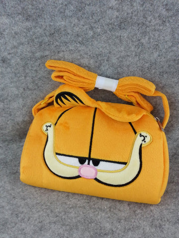 Garfield Cat Cartoon Soft Furry Plush School HandBag Backpack Bag Travel Bag
