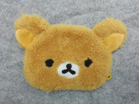 Cute Kawaii Winter Warm Face Mask Anime Animal Soft Plush Brown Rilakkuma Half Face Mask
