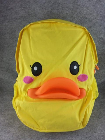 Rubber Duck Cute Soft Furry Plush HandBag Backpack Bag Travel Bag Yellow