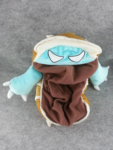 League of Legends LOL Rammus Anime Hat Rave Beanie Cap Furry Plush Cosplay Brown