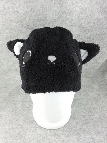 Kawaii Anime Animal Cosplay Soft & Dark Black Cat Hat-Snowboard Keep warm T2