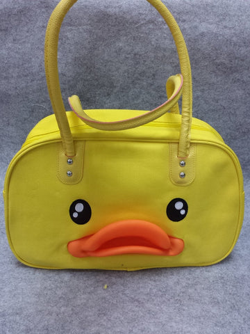 Rubber Duck Anime Animal Cute Kawaii HandBag Shoulder Bag Big Travel Bag Yellow