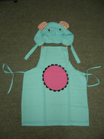 New Animal Anime Elephant Cute Kawaii Cosplay Apron with Pocket and Hat