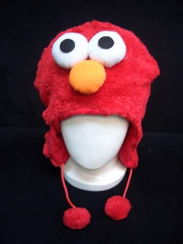Sesame Street Elmo Cute Anime Animal Hat Rave Beanie Cap Furry Plush Cosplay Hat
