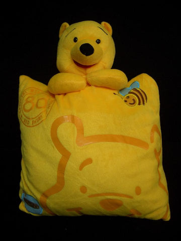 New Winnie The Pooh Cute Anime Beanie Shake Massage Furry Plush Cosplay Cushion