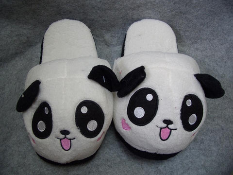 Metoo Panda Style (6)  Cosplay Adult Women Plush Rave Shoes Slippers 10""