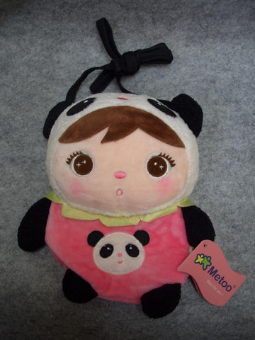 Metoo Cute Kawaii Little Girl with Big Eyes Cosplay Panda Cotton HandBag Shoulder Bag