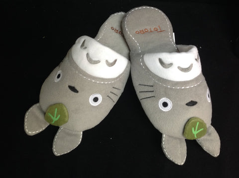 Japanese Cartoon Totoro Anime Warm Cutie Unisex Cosplay Adult Slippers 27cm New