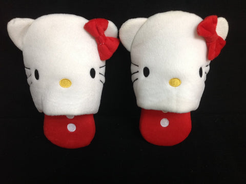 Hello Kitty Cutie Cosplay Adult Plush Rave Shoes Doll Slippers Red Traditional
