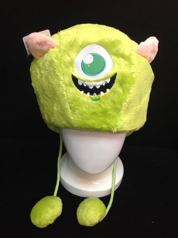 Cute Monster University Mike Wazowski Unisex Soft Plush Warm Cosplay Hat Earmuff