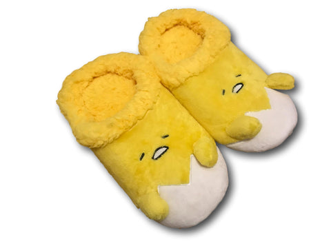 22f9f5faacd New Gudetama Yellow Lazy Egg Soft Plush Warm household Indoor Shoes Slippers