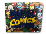 Marvel Avengers Super Hero short Wallet Comic Purse Spiderman Xmen Ironman hulk