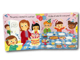 Campbell Busy Baking Kids Children Baby Push Pull Slide Board Book