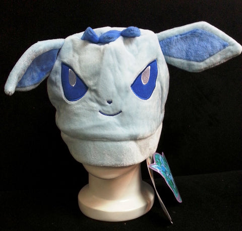 Newest Nintendo Creature Pok__mon Character Baby Blue Glaceon Unisex Cosplay Plush Hat