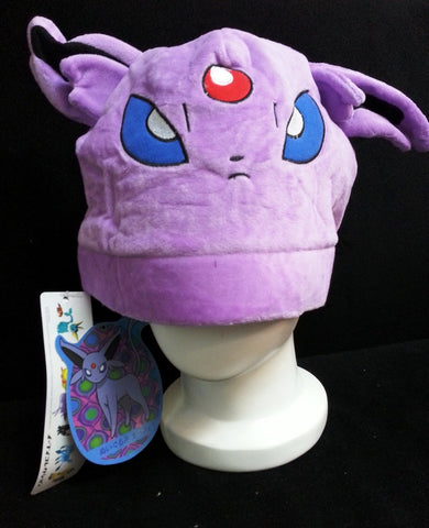 Newest Nintendo Creature Pok__mon Character Purple Espeon Unisex Cosplay Plush Hat