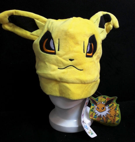 Newest Nintendo Creature Pok__mon Character Jolteon Unisex Cosplay Plush Hat