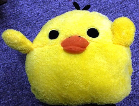 Cute Soft and Warm Plushing Yellowish Famous Rubber Duck Handwarmer Cushion