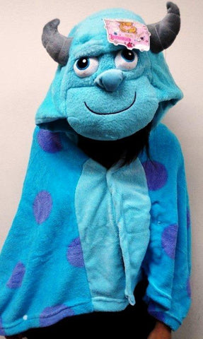 2014 NEW Monster University James.P Sullivan Comfortable Plush Warm Shawl Cape Wrap w/ Hat