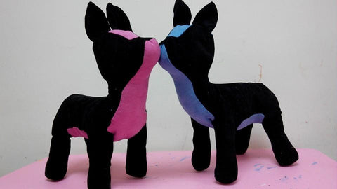 Special Fashionable Leather Bulldog Dog Torsos Mannequins (Pink and Black)