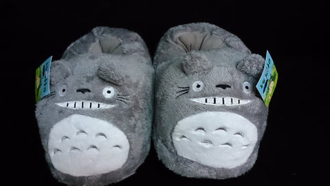 "Totoro Ghibli Cosplay Adult Plush Rave Shoes Slippers 10"" T2"