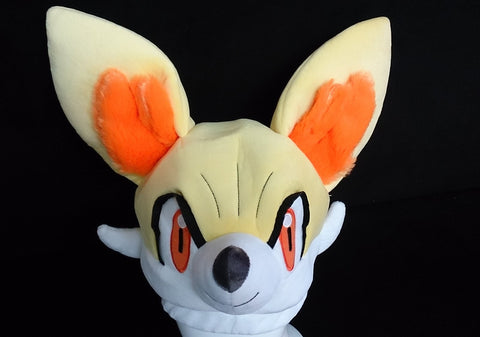 New Nintendo Creature Intertwining Pok__mon FENNEKIN Cosplay Plush Hat