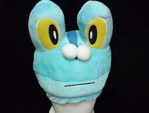 New Nintendo Creature Intertwining Pok__mon FROAKIE Cosplay Plush Hat