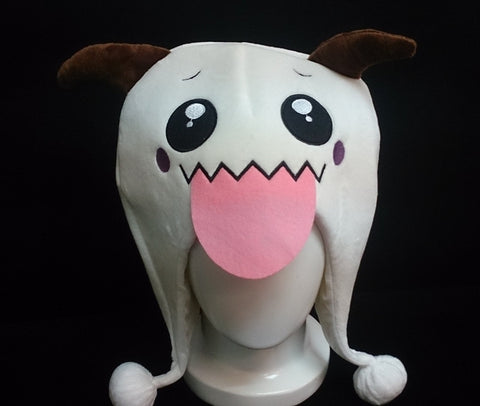 New League of Legends LOL PORO Hat Rave Beanie Cap Furry Plush Cosplay