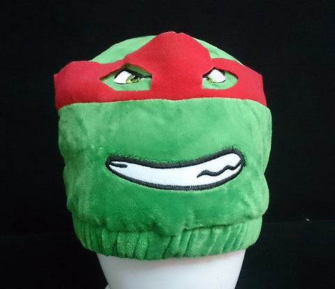 Teenage Mutant Ninja Turtles (TMNT) Cosplay Furry Plush Hat Beanie Cap - Raphael
